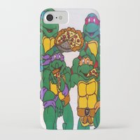ninja turtles iPhone & iPod Cases featuring Ninja Turtles by Hannah Bolotin