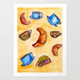 French Breakfast Art Print