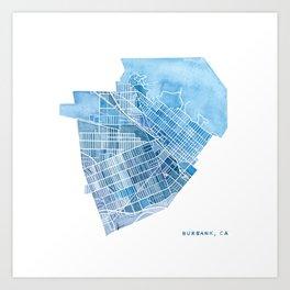 Burbank, California Art Print