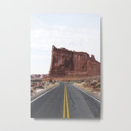 Arches National Park Road Metal Print