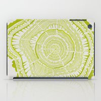 tree rings iPad Cases featuring Lime Tree Rings by Cat Coquillette