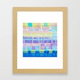 Watercolor pastels Framed Art Print