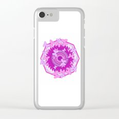 Butterflies and kaleidoscope in pink Clear iPhone Case