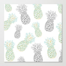 Pineapples party Canvas Print