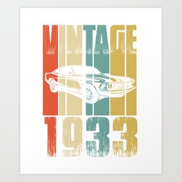 Vintage Retro 1933 T-Shirt Art Print