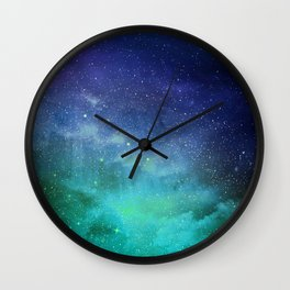 Turquoise Space Wall Clock