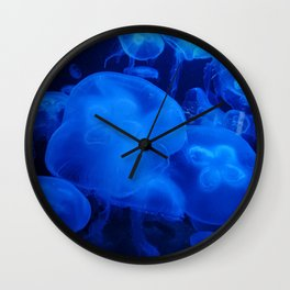 Blue Jellyfish I Wall Clock