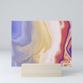 Sensing - Ink Alcohol Marbling - Rainbow - Horizontal Mini Art Print