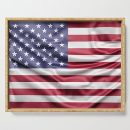 Flag of United States of America Serving Tray