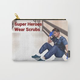 Super Heroes Wear Scrubs 5 Carry-All Pouch