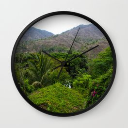 Dreamy Mexican Jungle Wall Clock