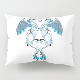 Azure Love Dragons Pillow Sham