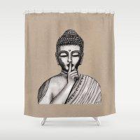 buddha Shower Curtains featuring BUDDHA by Vanya