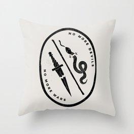 no more devils Throw Pillow