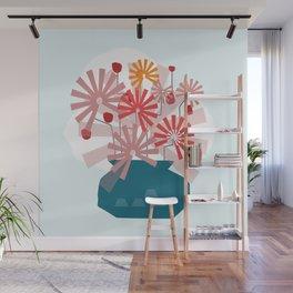 Floral Vase 3  #society6 Wall Mural