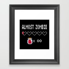 Almost Zombie Framed Art Print
