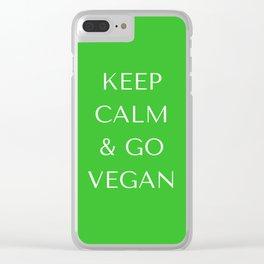 Go Vegan Clear iPhone Case