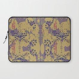 Textures ,Ovals & Flowers By Danae Anastasiou Laptop Sleeve