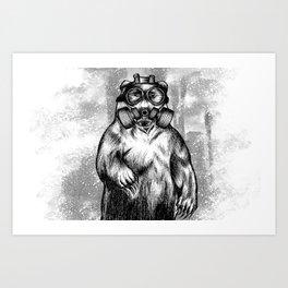 toxic bear  Art Print