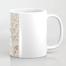 Sheep Pattern | Turquoise Coffee Mug