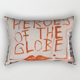 The Globe Kiss Rectangular Pillow