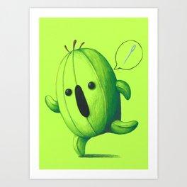 Cactuar Chibi Art Print