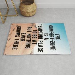 Motivational - Go Out Of Your Comfort Zone Quote Rug