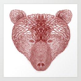 Bear in white Art Print