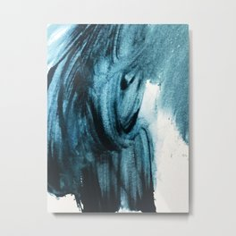 1 2 3 1 : blue abstract Metal Print