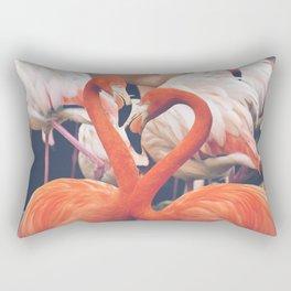 Pink Flock Rectangular Pillow