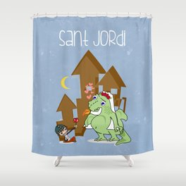 Sant_Jordi Shower Curtain