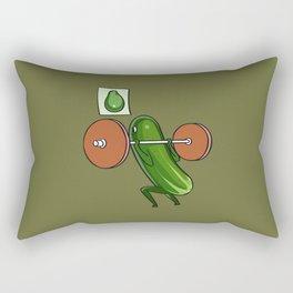 Cucumber Squats Rectangular Pillow