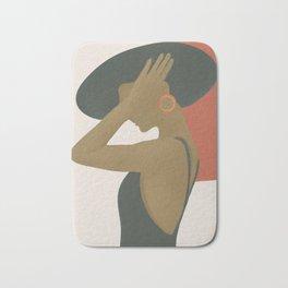 Lady in a Black Dress Bath Mat