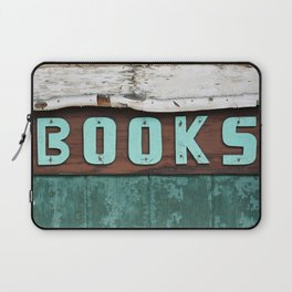 Rustic Aqua Birch Bark Book Art Laptop Sleeve