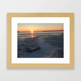 Sunset Brings A New Story Framed Art Print