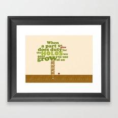 a part so ptee Framed Art Print