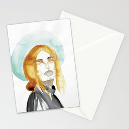Judy with a Mint-Coloured Hat Stationery Cards
