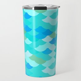 pattern scales, wave abstract simple Nature background mermaid Travel Mug