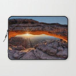 Mesa Arch Sunburst  by Lena Owens Laptop Sleeve