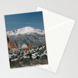 Snowy Mountain Tops Stationery Cards