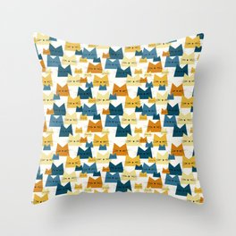 Nala Cat Pattern Peacock Throw Pillow