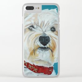 Jesse the Beautiful West Highland White Terrier Dog Portrait Clear iPhone Case