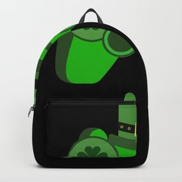 Gamer St. Patrick's Day Irish Video Game Controller Backpack