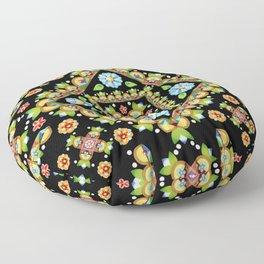 Cottage Garden Parterre Floor Pillow