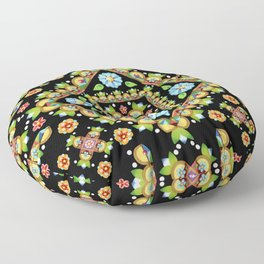 Cottage Garden Parterre Floor Pillow