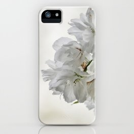 SPRING BLOSSOMS - IN WHITE - IN MEMORY OF MACKENZIE iPhone Case