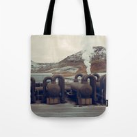 iceland Tote Bags featuring Iceland by very giorgious