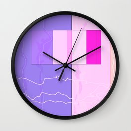 Squares combined no. 10 Wall Clock