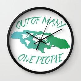 Jamaican Motto Wall Clock
