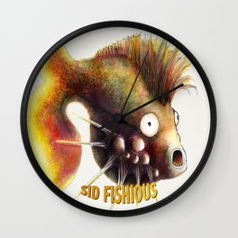 Sid Fishious with name Wall Clock